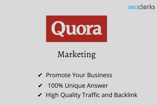 I Will Promote Your Website 15 Quora Answer with Guaranteed Traffic