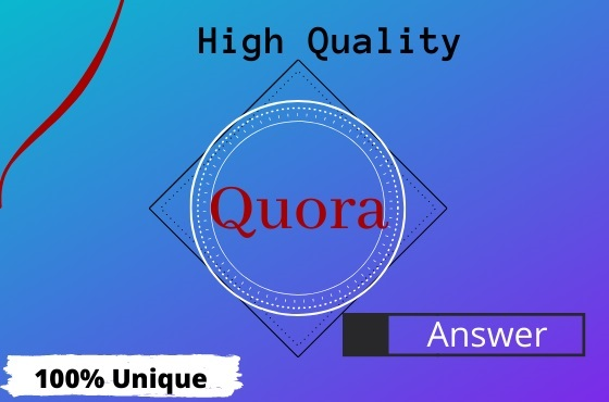 I Will Create 3 High Quality Quora Answer with Targeted Traffic