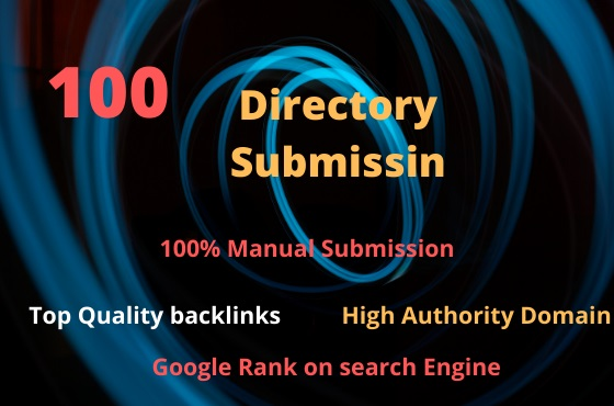 100 Niche High Quality Directory Submission Backlinks
