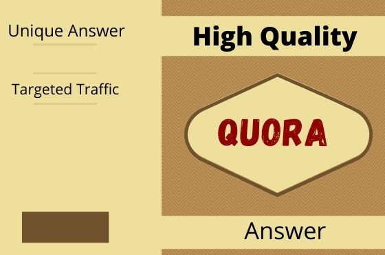 Promote your Website by 20 Quora Answer with your Keyword & Url