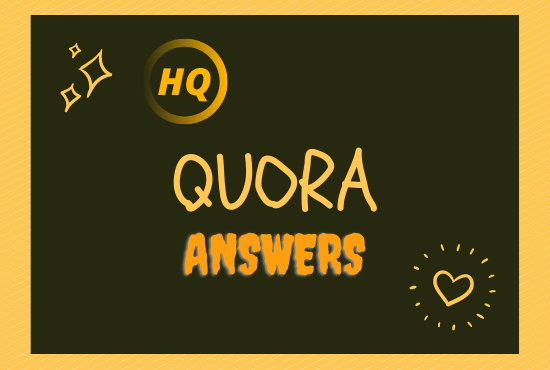 I will Provide 10 high quality Quora Answer for your targeted traffic