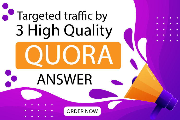 Promote your website 3High Quality Quora Answer With Your Targeted traffic