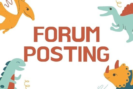 I will do 30 Forum posting for your website