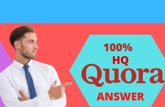 Get offer i will provide 10 high quality quora answer your targeted traffic.