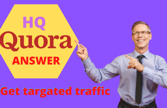 promote your website 20 High quality quora answer with your targeted traffic