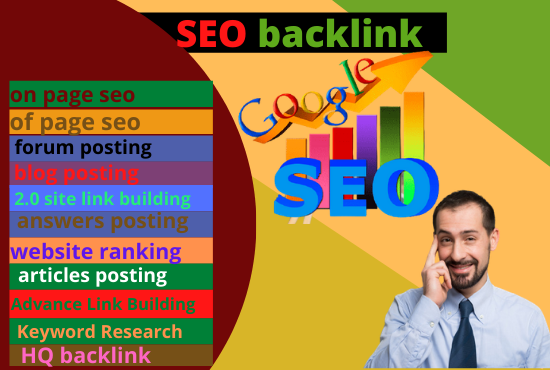 I will glaireous high quality dofollow 100 backlinks for SEO