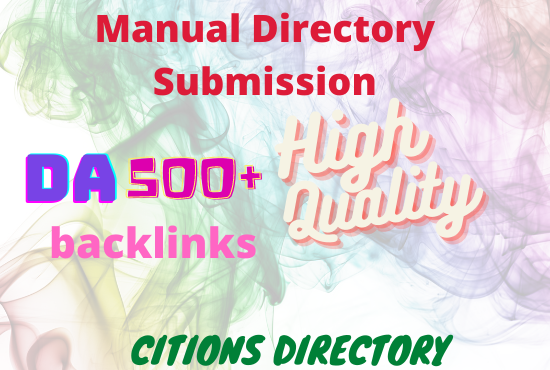 I will do high quality 50 manual white hat directory submission