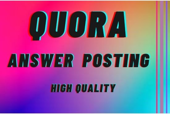 I will Promote your website 10 HQ quora answer with your keyword and url.