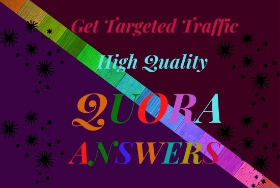 I will Promote your website by Keyword Related 3 HQ quora answer.