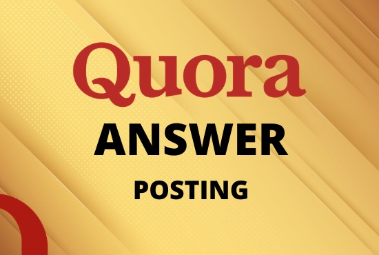 I will Promote your website 10 HQ Quora Answers With keyword & URL
