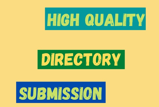 100 Niche Relevant Directory Submissions on High PR Website
