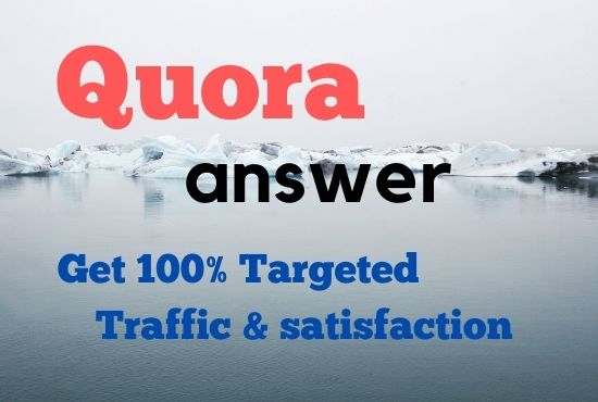 Offer High quality traffic with 15 quora answers