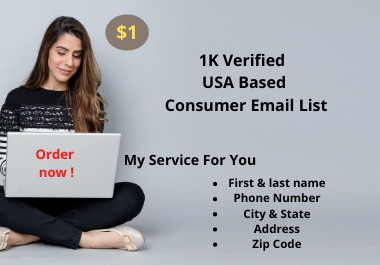 1000 U.S.A Based Active Consumer Email List.