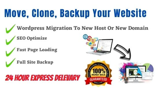I Will Migrate Wordpress Website, Backup Website and Clone Website