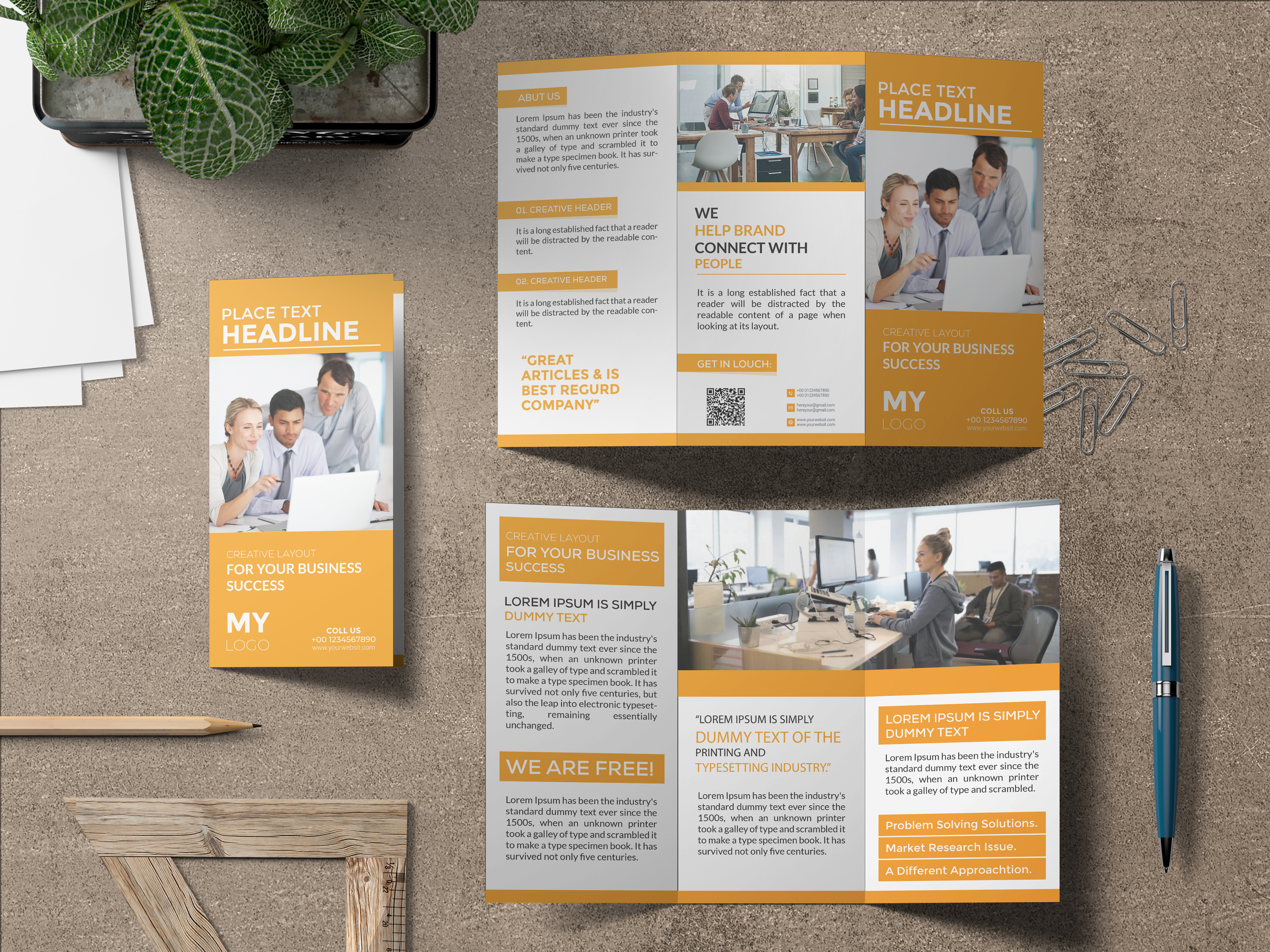 I will do an eye-catching brochure or flyer design