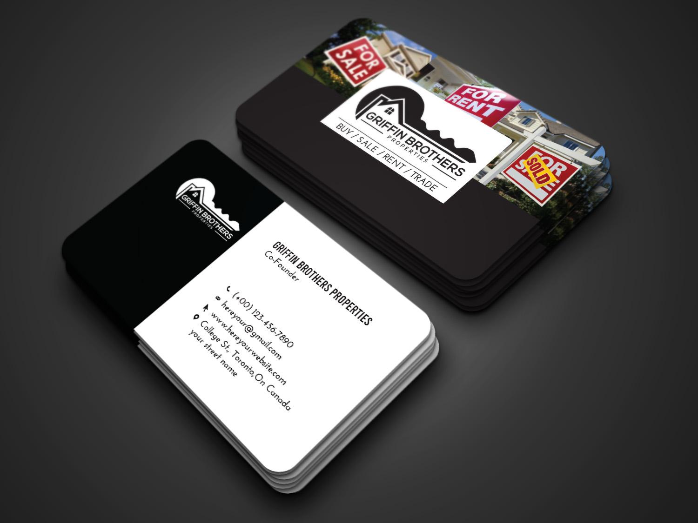 I will design Flat and minimalist business card design