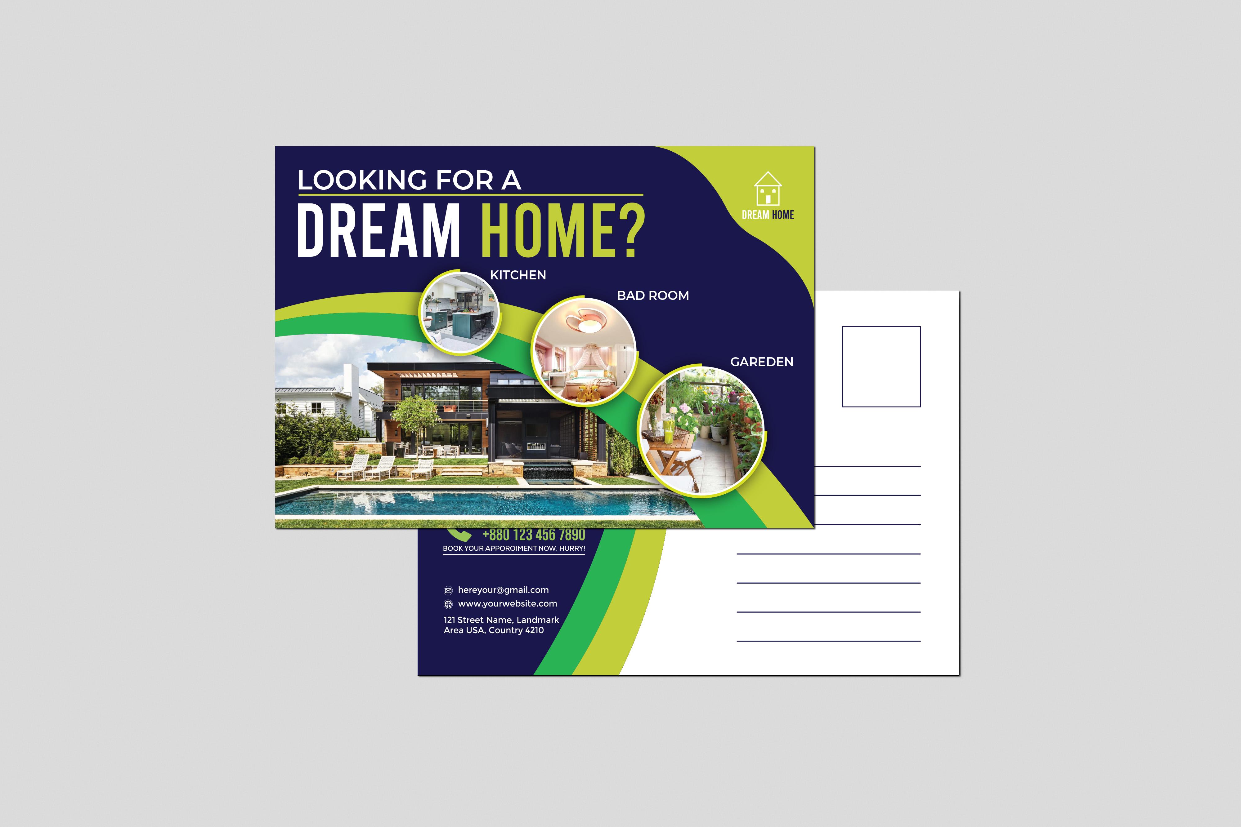 I will do amazing postcard design for you