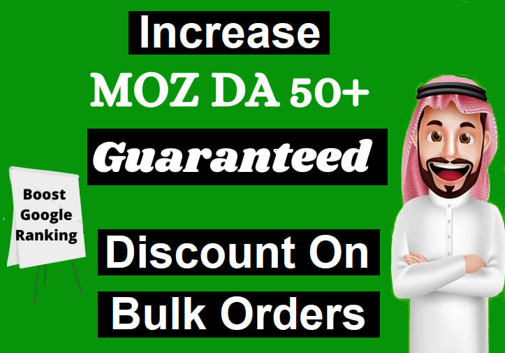 I will increase domain authority da to 50 plus