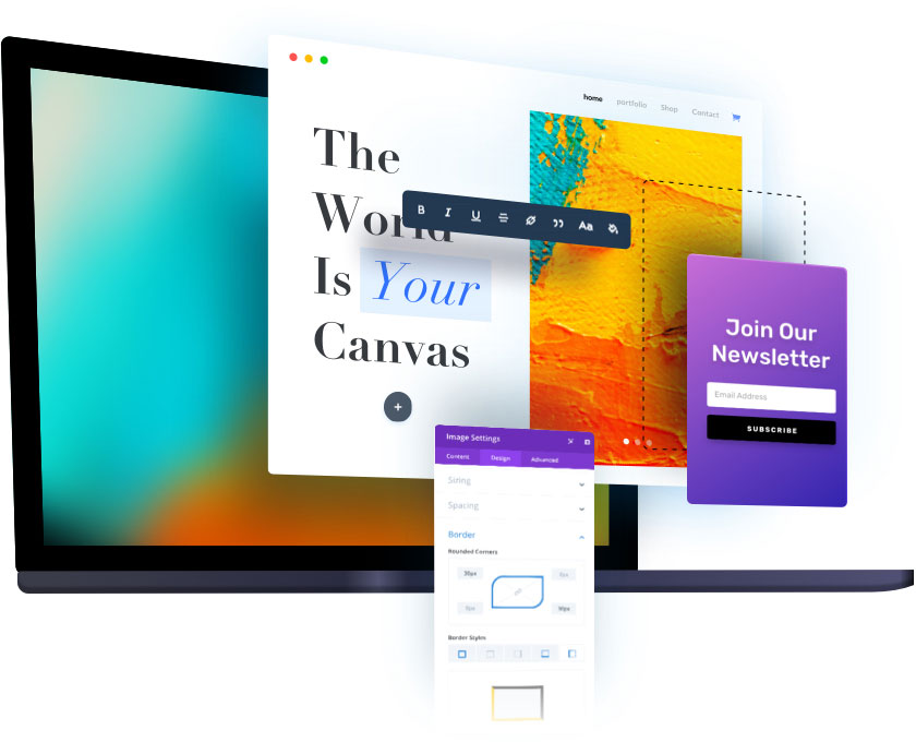 build wordpress responsive website with divi theme