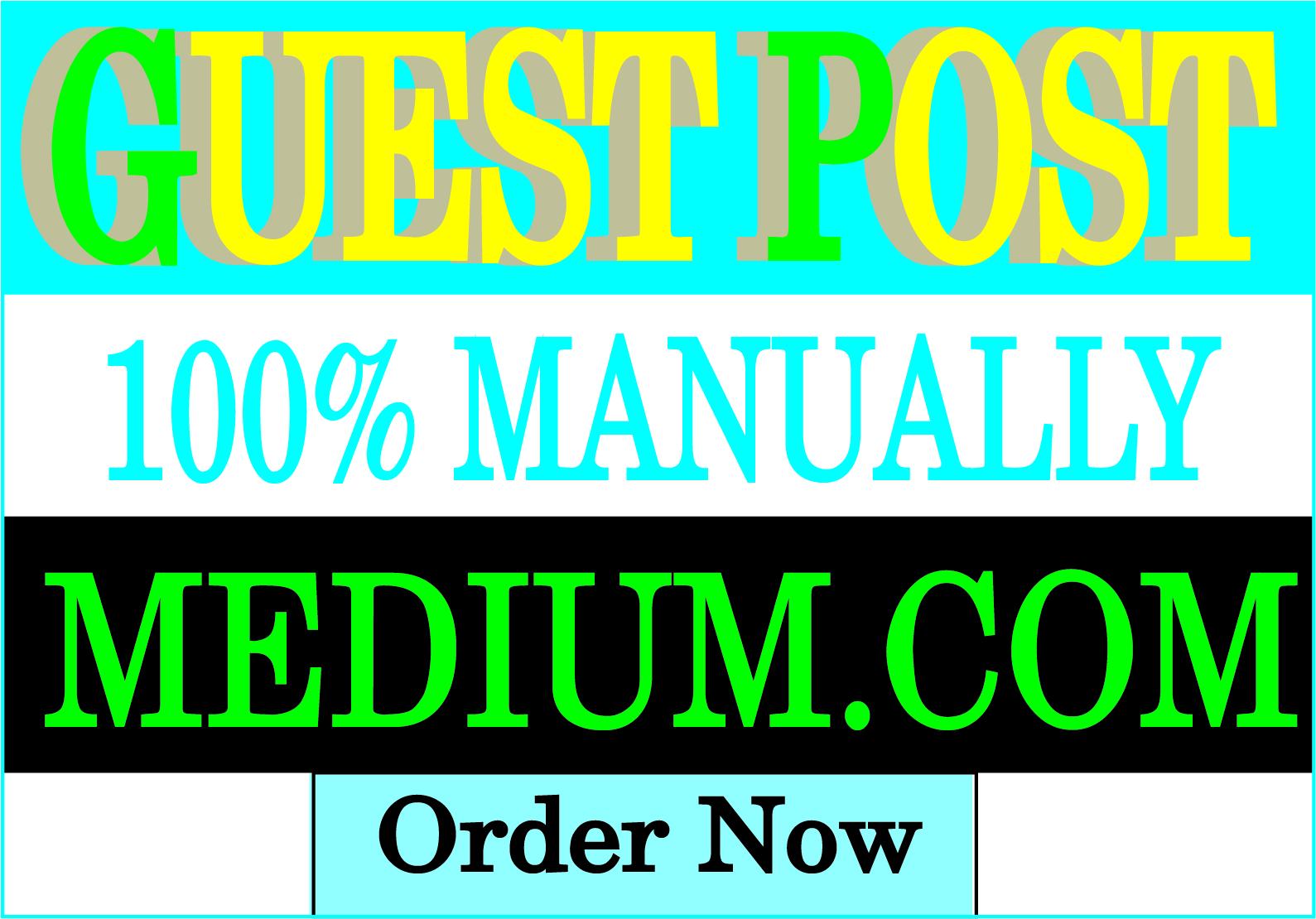 I will publish guest post backlinks on Medium post
