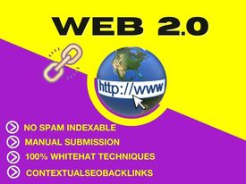 I will create 50 web 2 0 backlinks with high DA PA