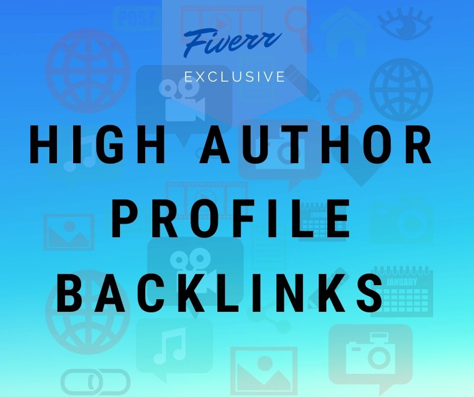 I will create high authority profile backlinks and SEO
