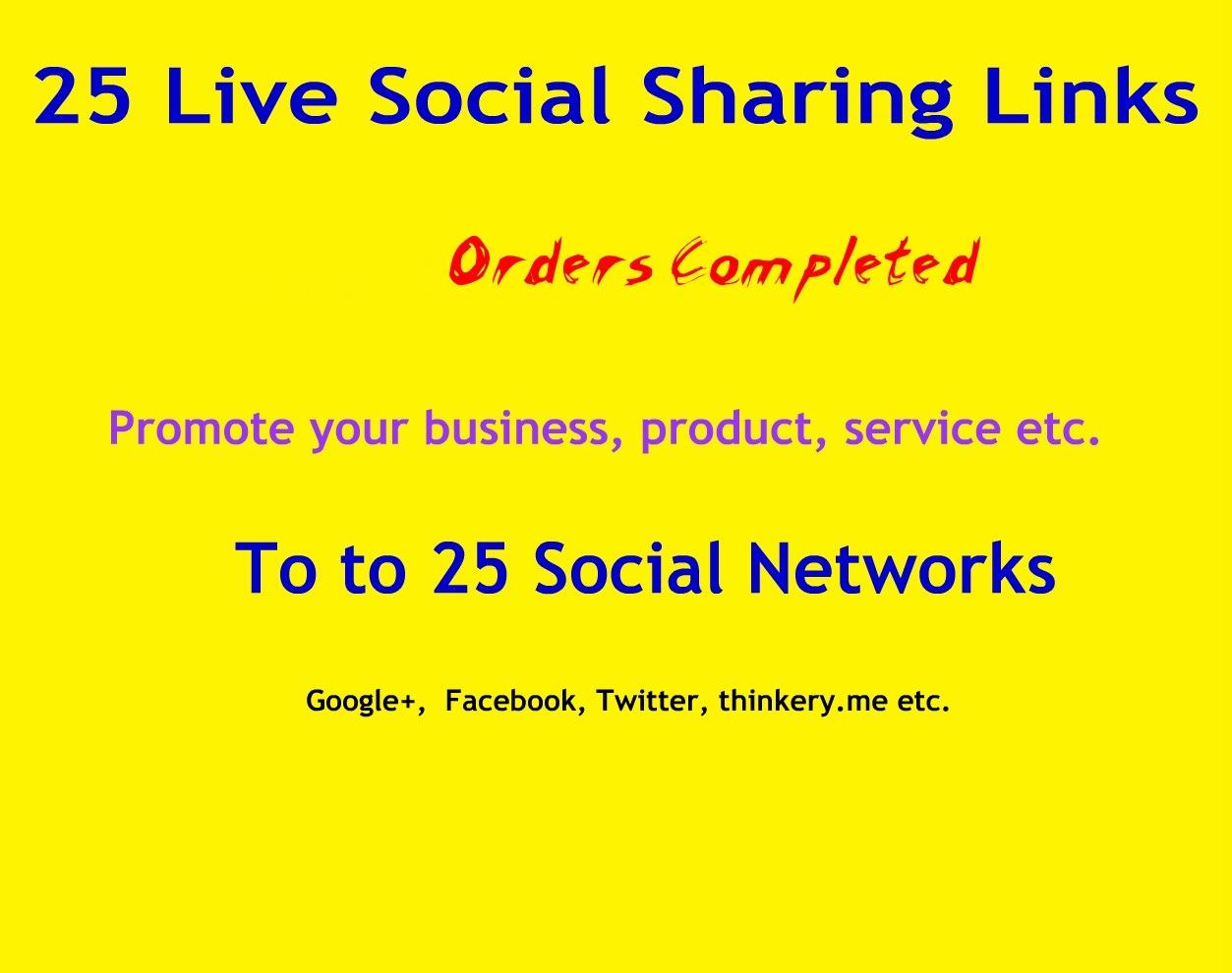 Instant manually 25 Live Social Bookmarking Links within 24 hours