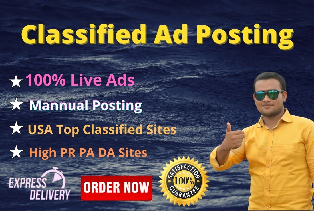 I will post your ad to 50 USA top classified ad posting site