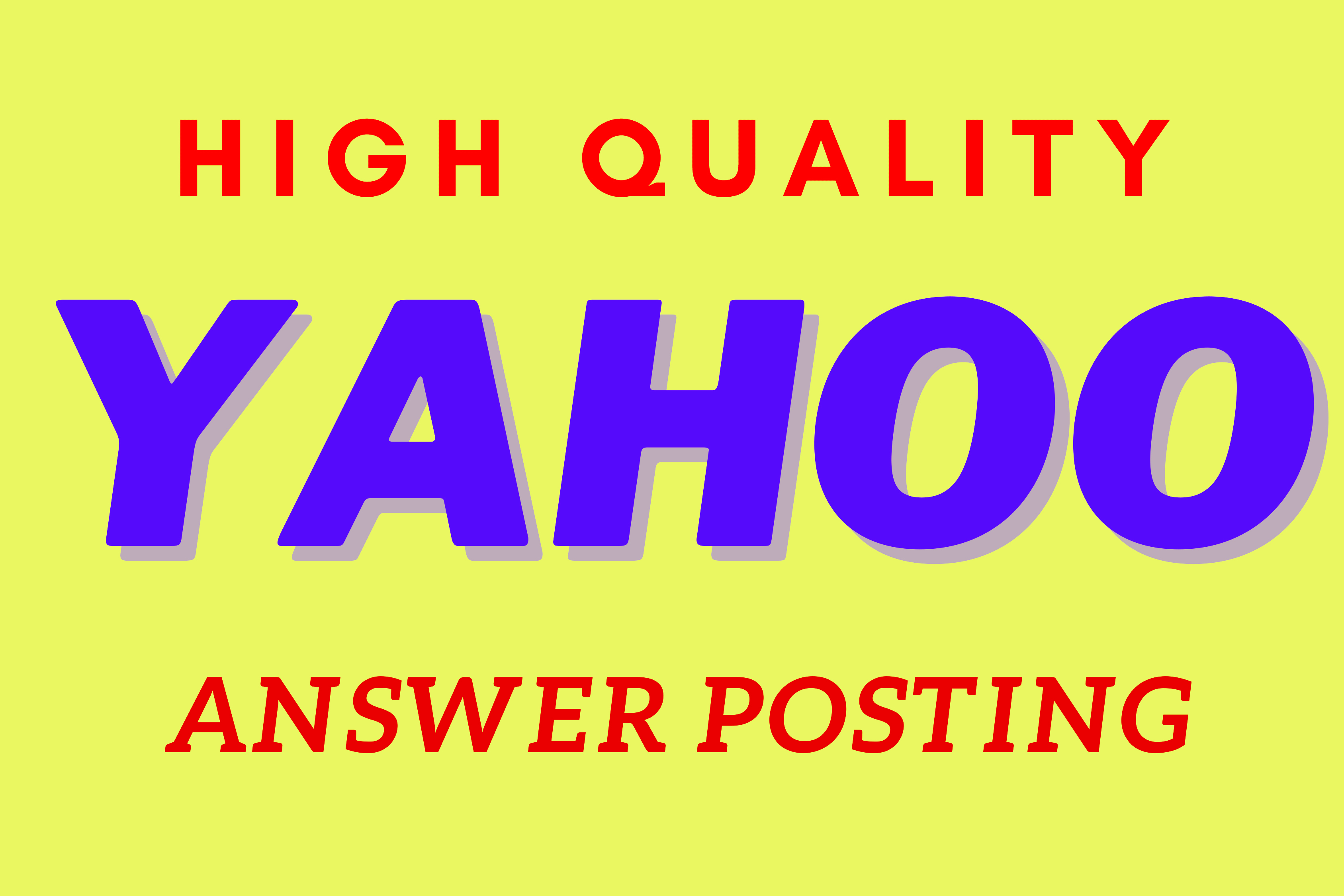 I will promote your website with 12 High Quality Yahoo answer