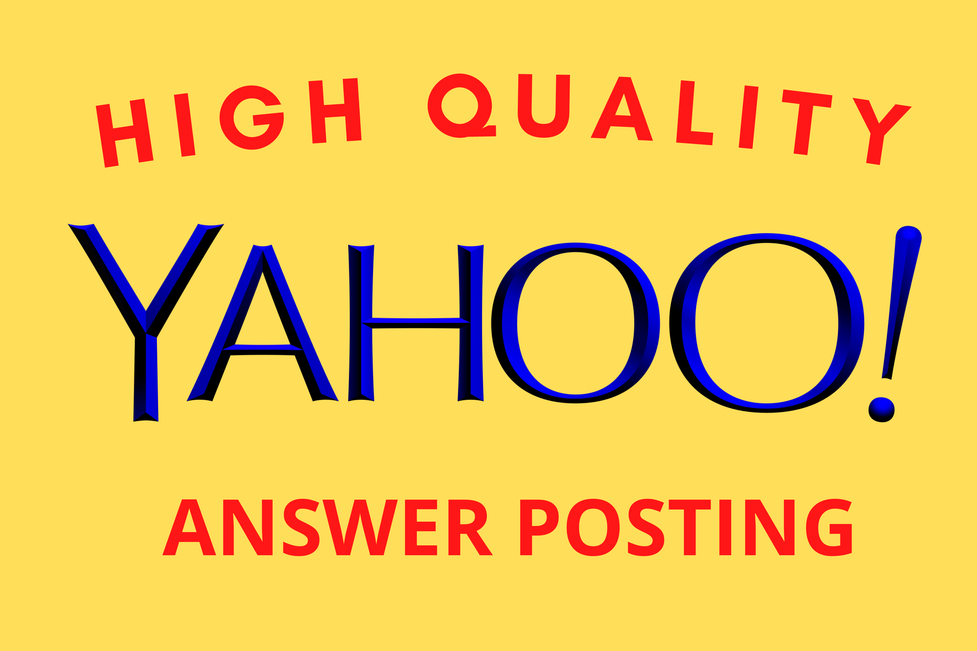 Promote your website with 12 High Quality Yahoo answer