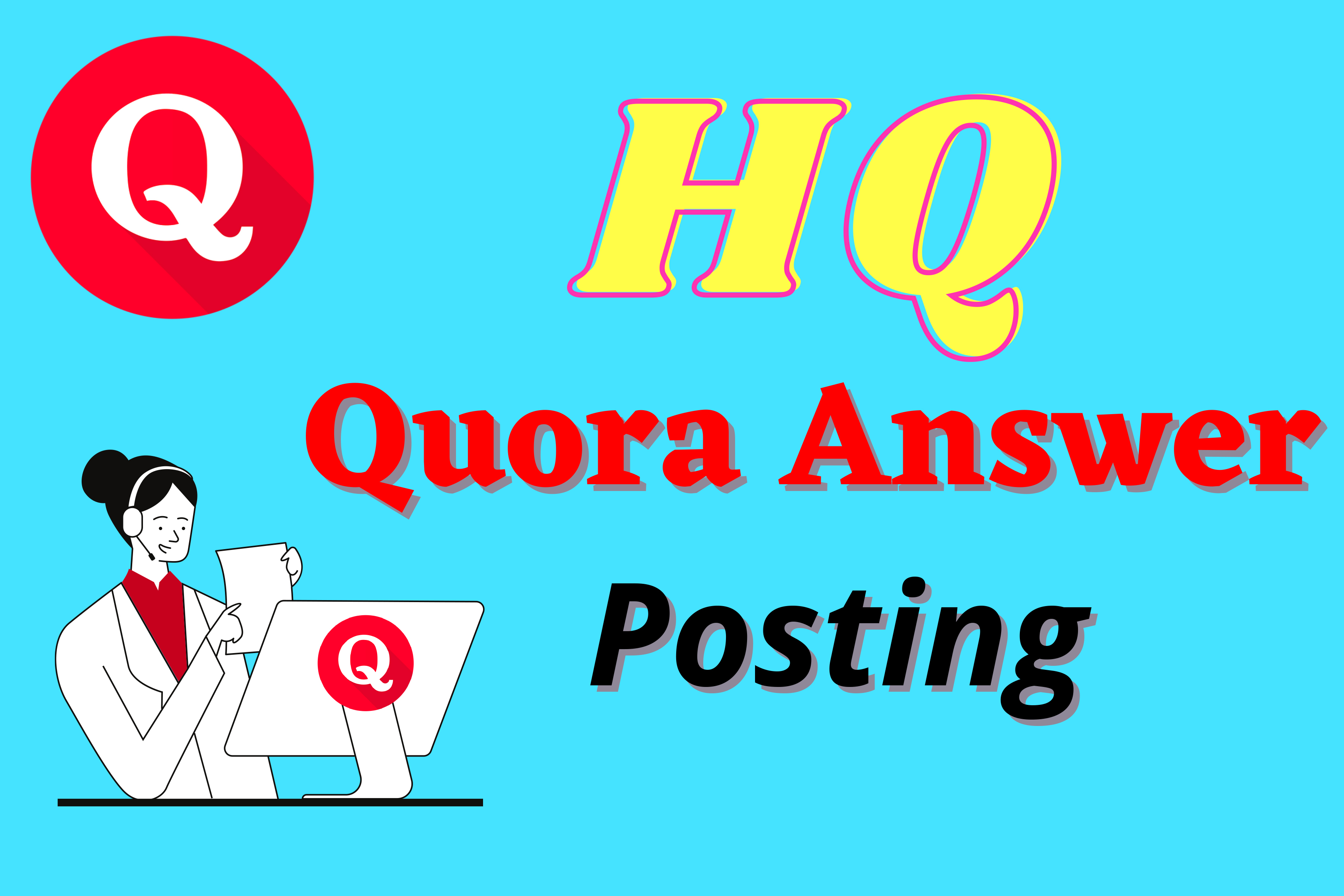 Promote your website with 5 high quality Quora answer with your Keyword & URL