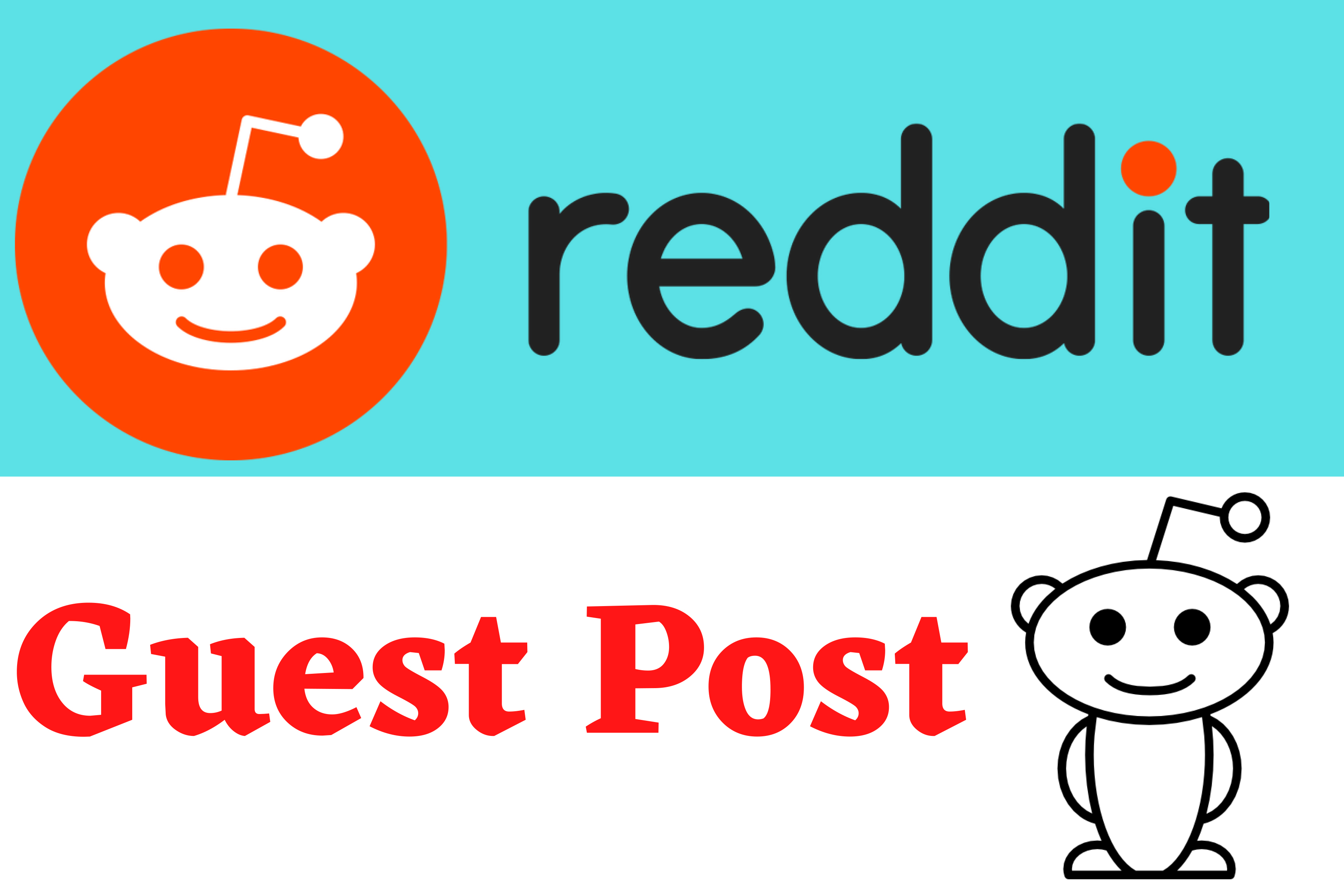 Write and publish 5 permanent Reddit DoFollow powerful Guest Post on High DA
