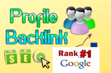 I will Manually High DA/PA 30 Profile Creation & Live Backlinks