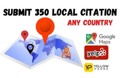 I will DO 50 Local Citation for USA,UK,CANADA.