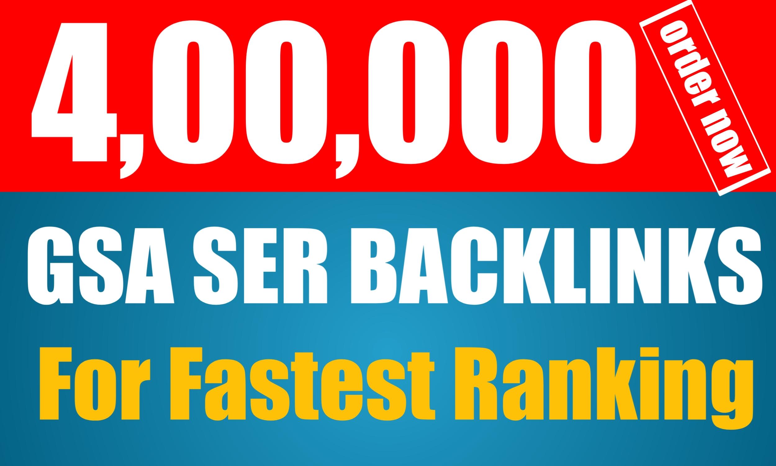 400k Super Quality GSA SER Backlinks For Your Website