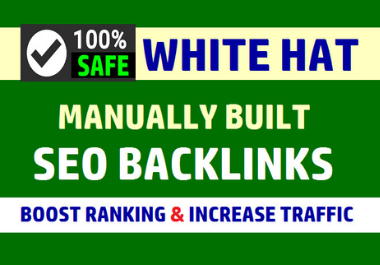 I will provide 150 SEO backlinks white hat manual link building service for google top ranking