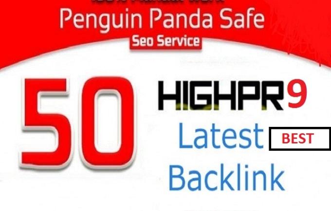 50 USA powerful pr9 profile seo backlinks.