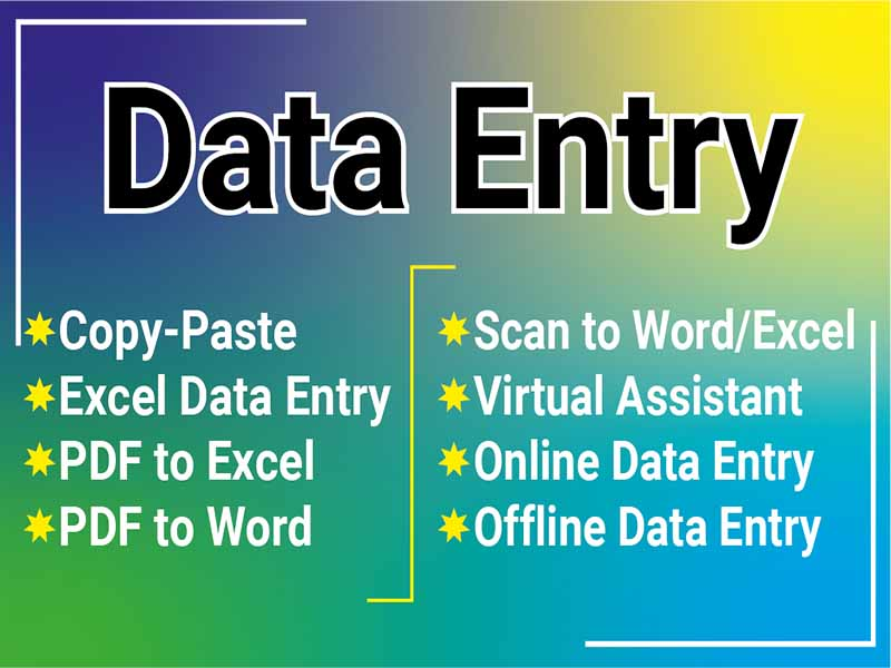 I will do excel data entry,  typing,  copy paste,  data mining,  file convert
