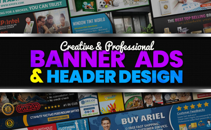I will do professional banner design and awesome headers for ads