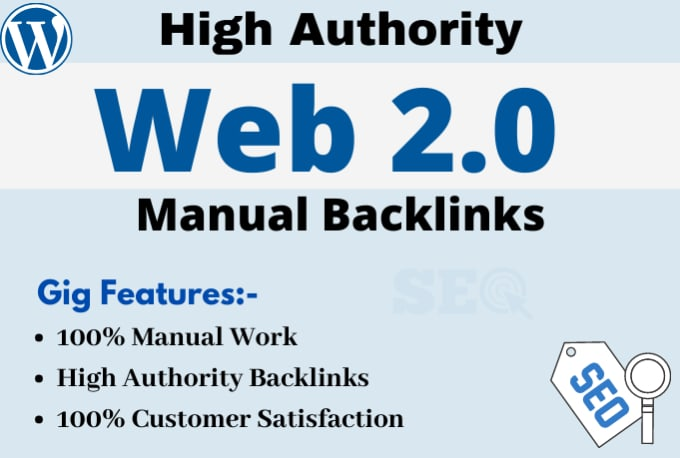 I will create 20 high quality web 2 0 backlinks manually
