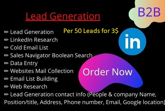 I will do lead generation and data research