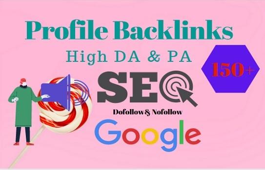 I will do 100 high DA Dofollow profile backlinks