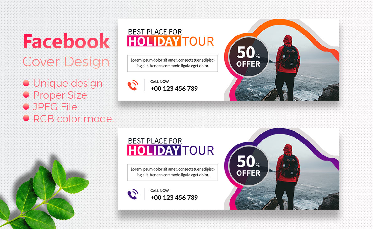 I will do facebook cover and instagram post design