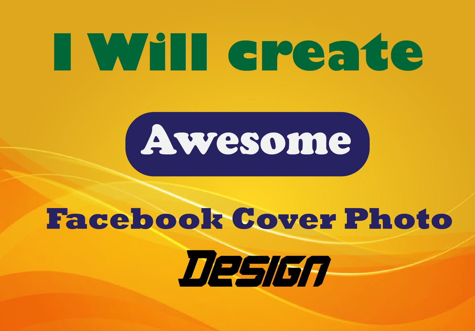 I will design amazing professional Facebook Cover photo design for you.