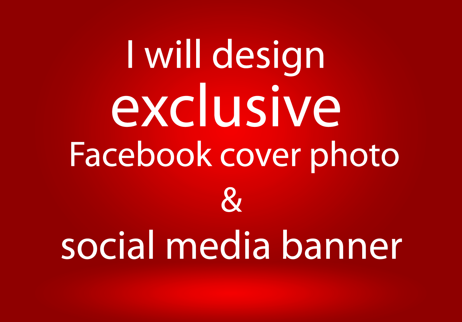 I will design exclusive Facebook cover photo & social media banner