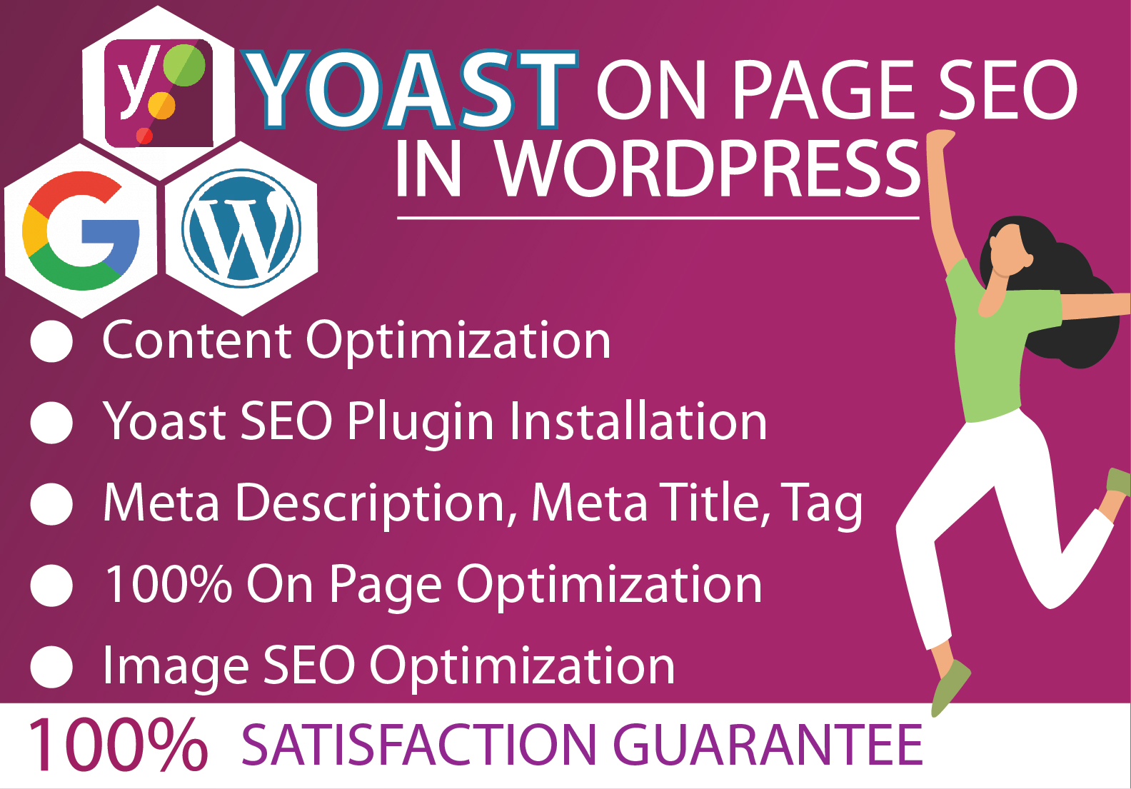Will setup and install WordPress Yoast SEO and provide On Page SEO