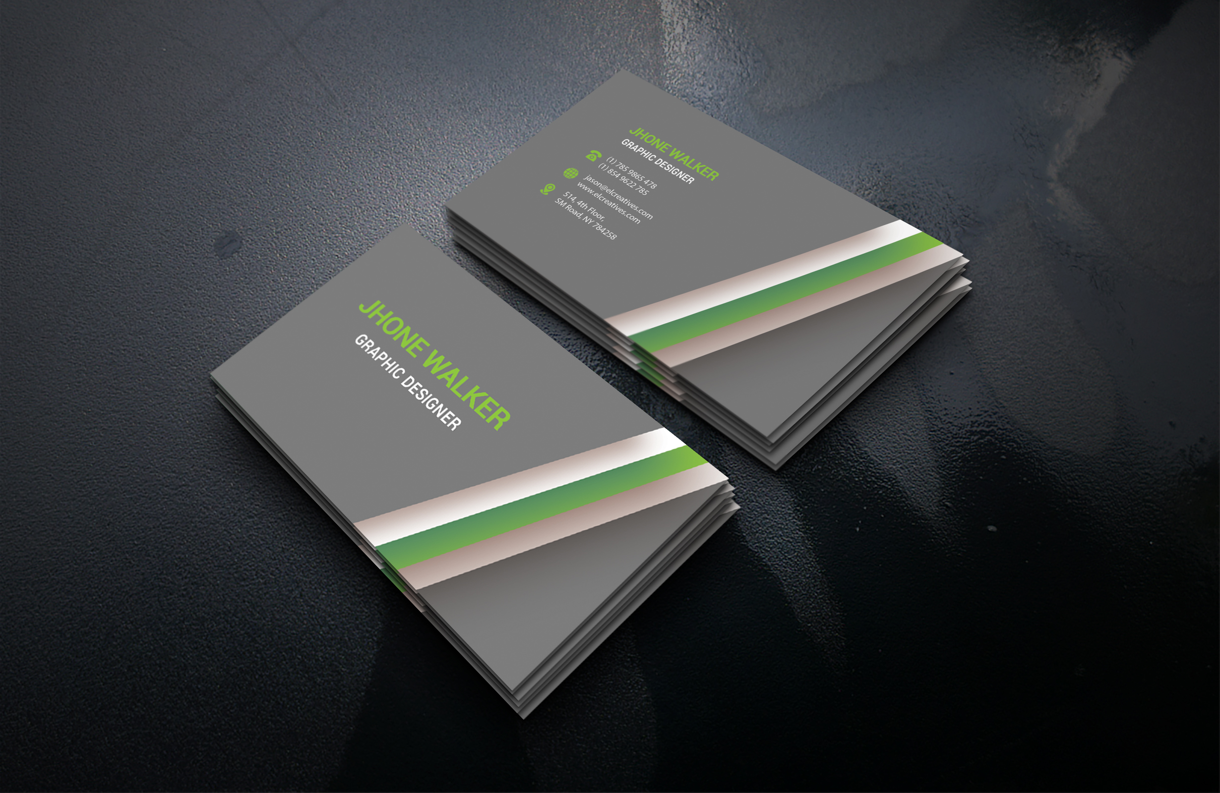 I will design a professional business card for you.