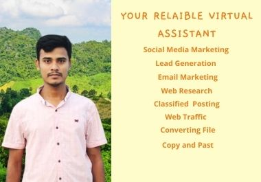 I will be your reliable virtual assistant all kind of services