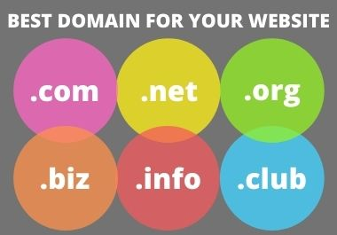 I will be search best domain for your website