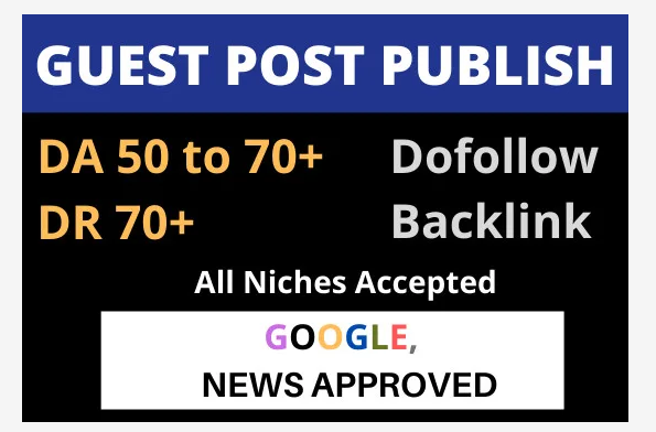 I will build SEO backlinks through high da guest posts high authority link building